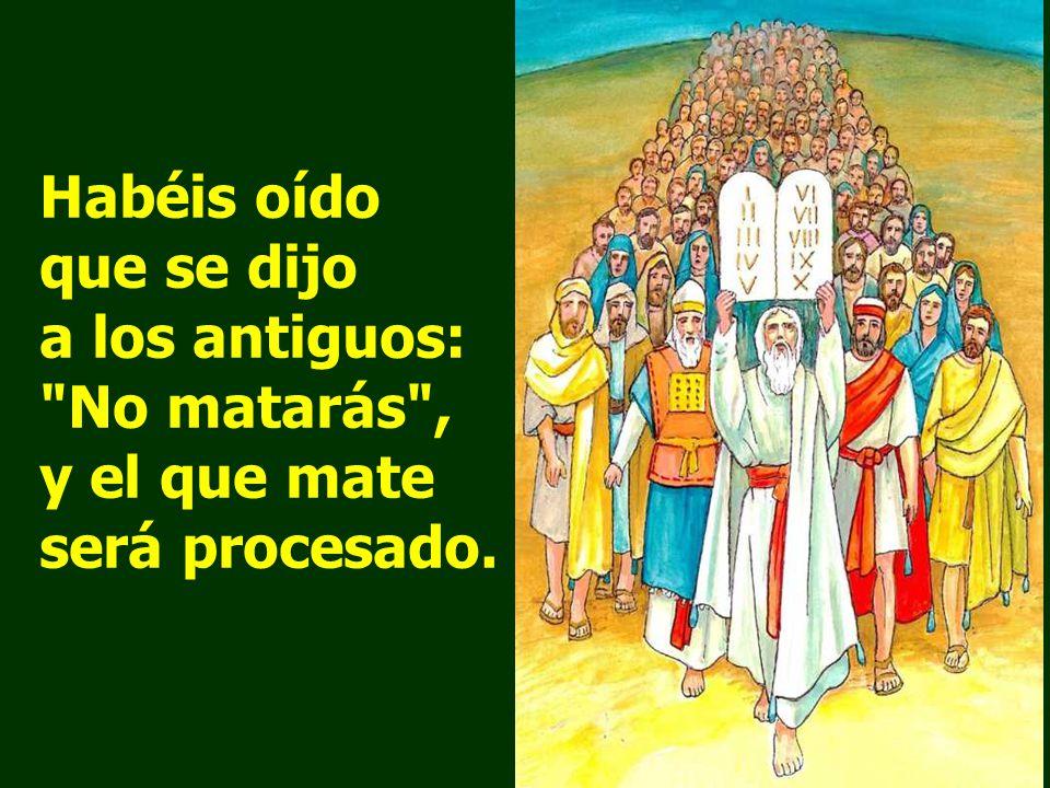 Resultado de imagen para En aquel tiempo, dijo Jesús a sus discípulos: «Habéis oído que se dijo a los antiguos: