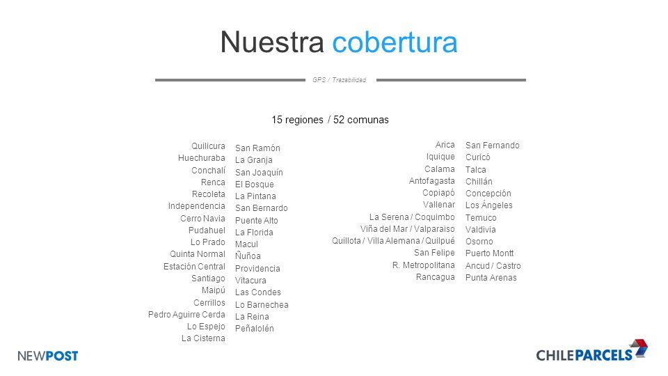 Gps trazabilidad chileparcels es una empresa de for Lo espejo 03450 san bernardo