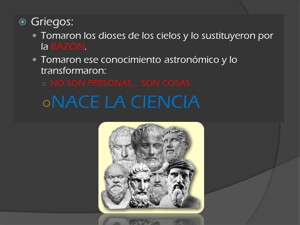 NACE LA CIENCIA Griegos:
