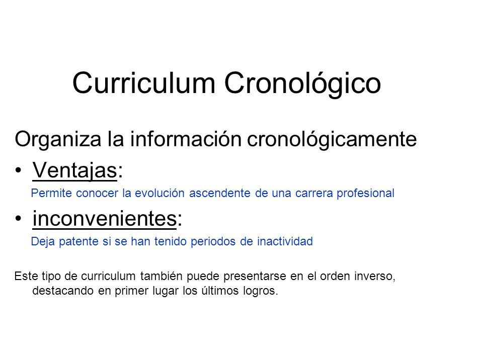 Curriculum Cronológico