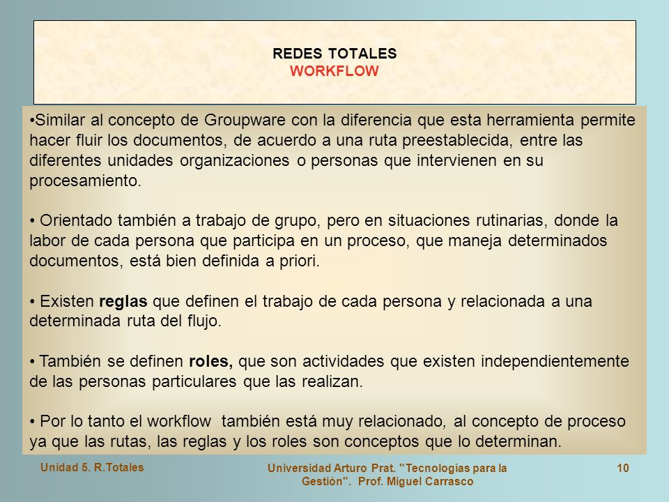 REDES TOTALES WORKFLOW