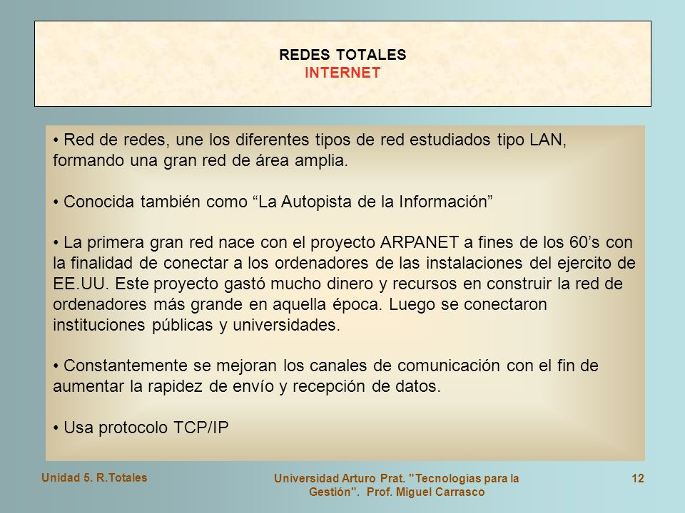 REDES TOTALES INTERNET