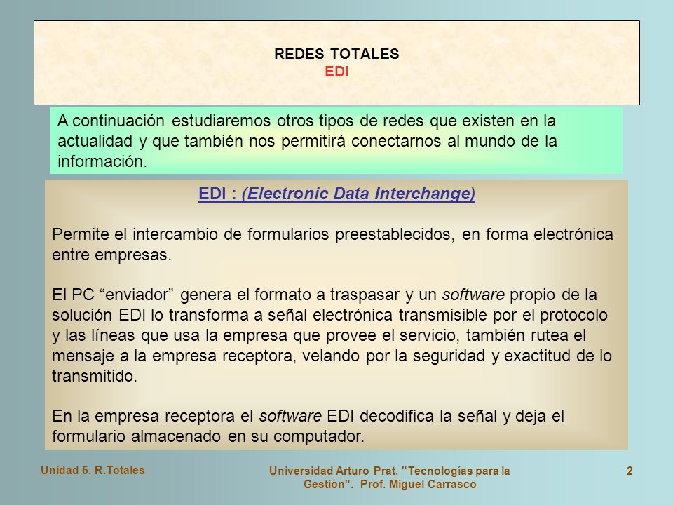 EDI : (Electronic Data Interchange)