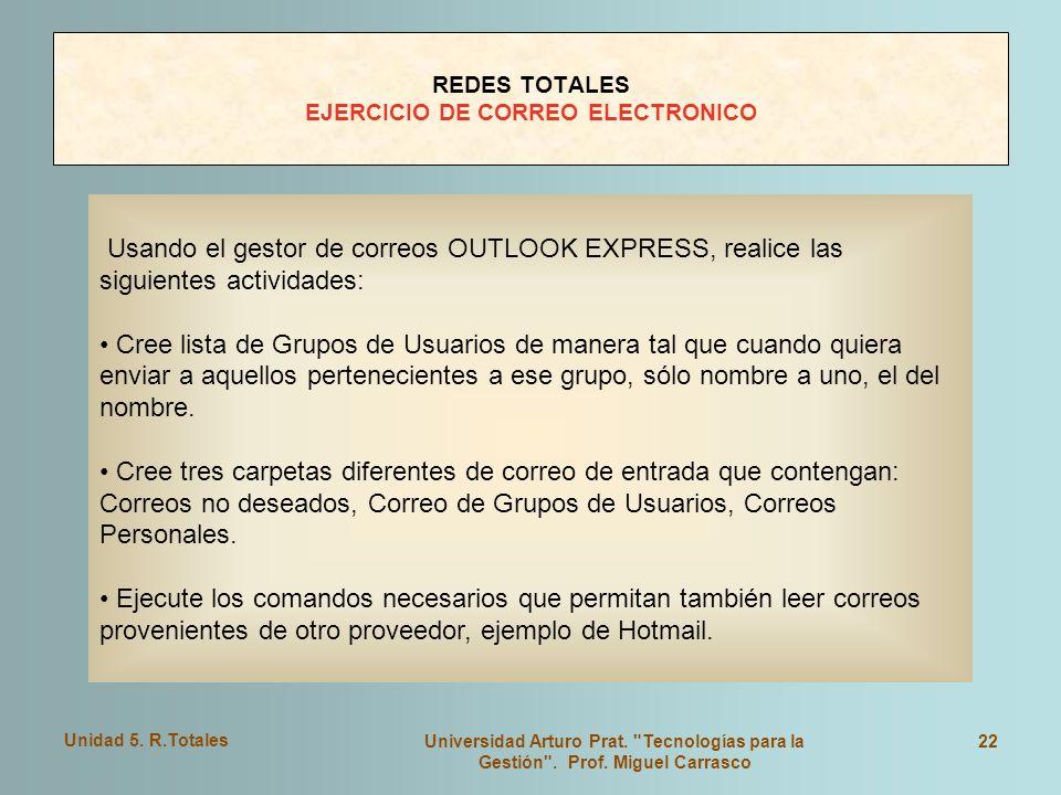 REDES TOTALES EJERCICIO DE CORREO ELECTRONICO