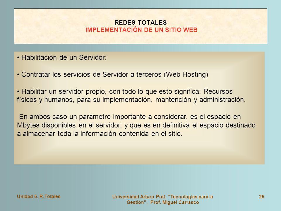 REDES TOTALES IMPLEMENTACIÓN DE UN SITIO WEB