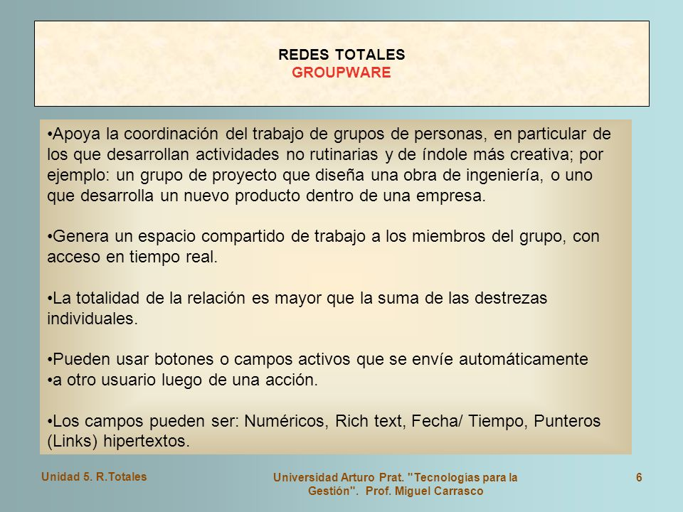 REDES TOTALES GROUPWARE