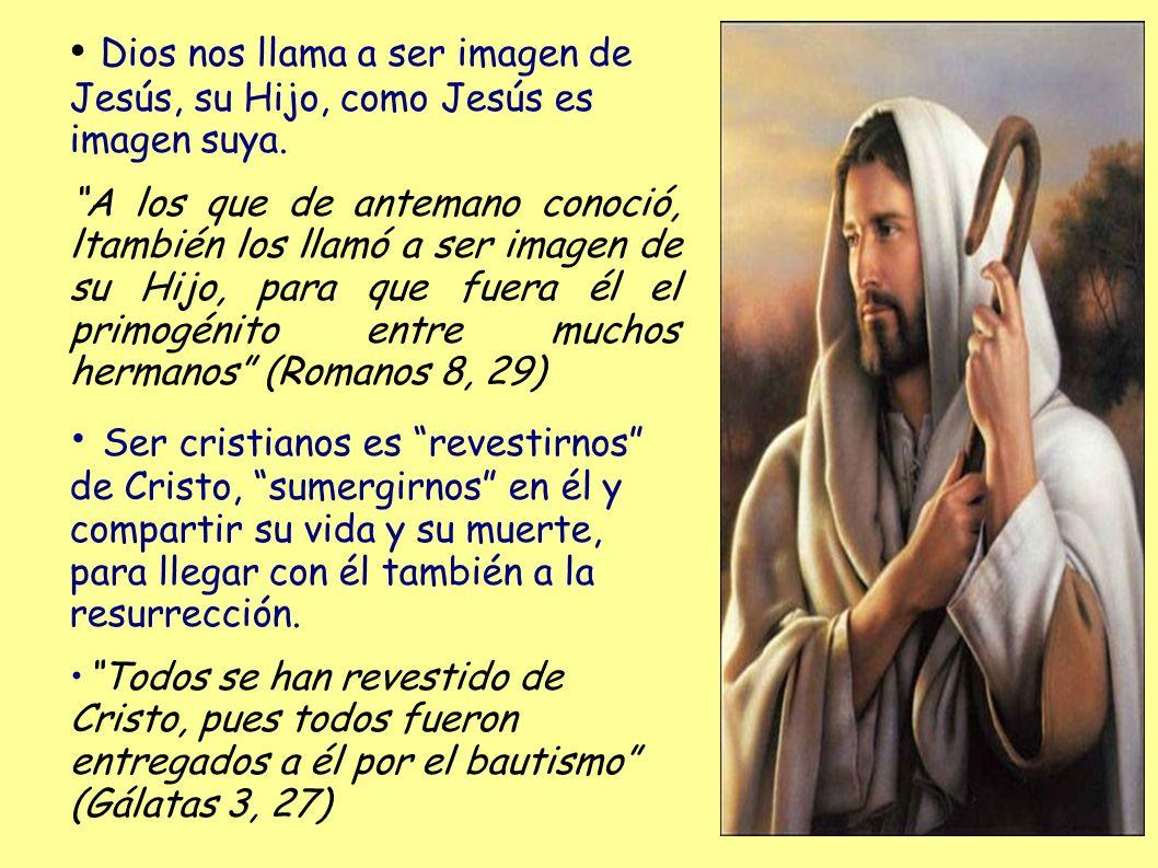 Dios nos llama a ser imagen de Jesús, su Hijo, como Jesús es imagen suya.