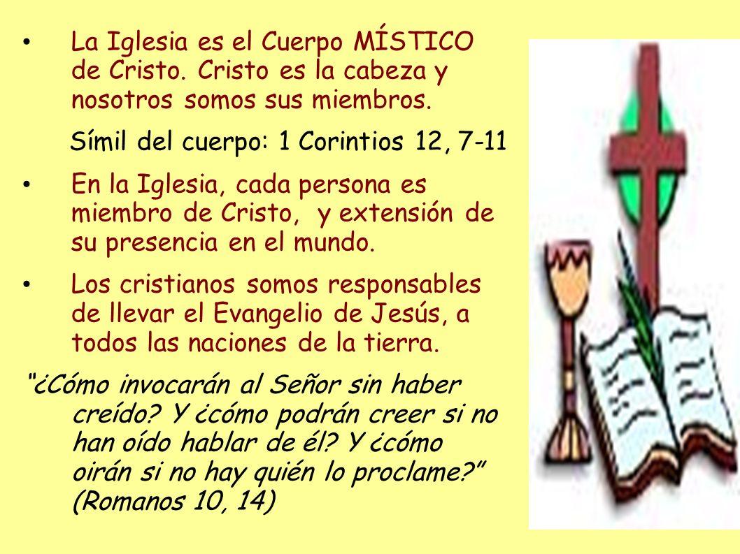 La Iglesia es el Cuerpo MÍSTICO de Cristo