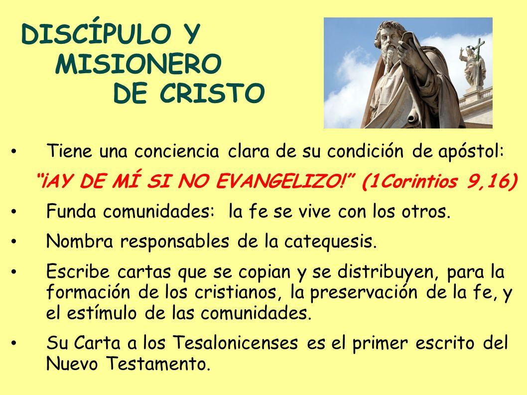 DISCÍPULO Y MISIONERO DE CRISTO