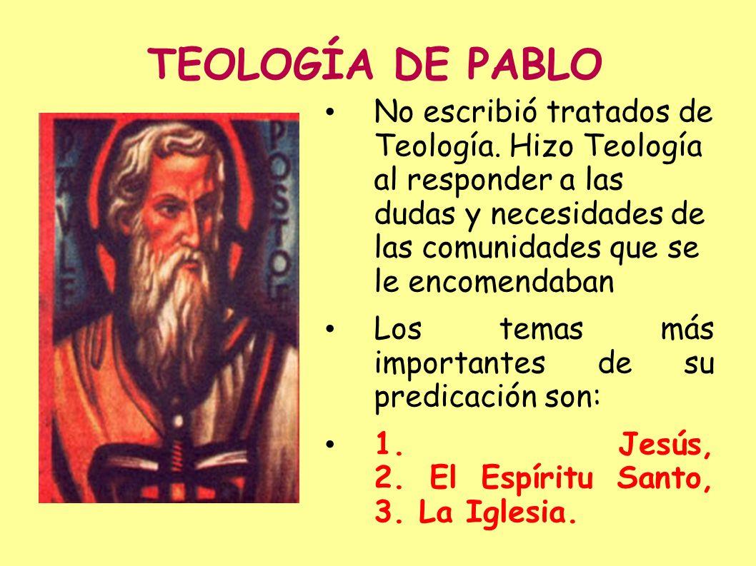 TEOLOGÍA DE PABLO