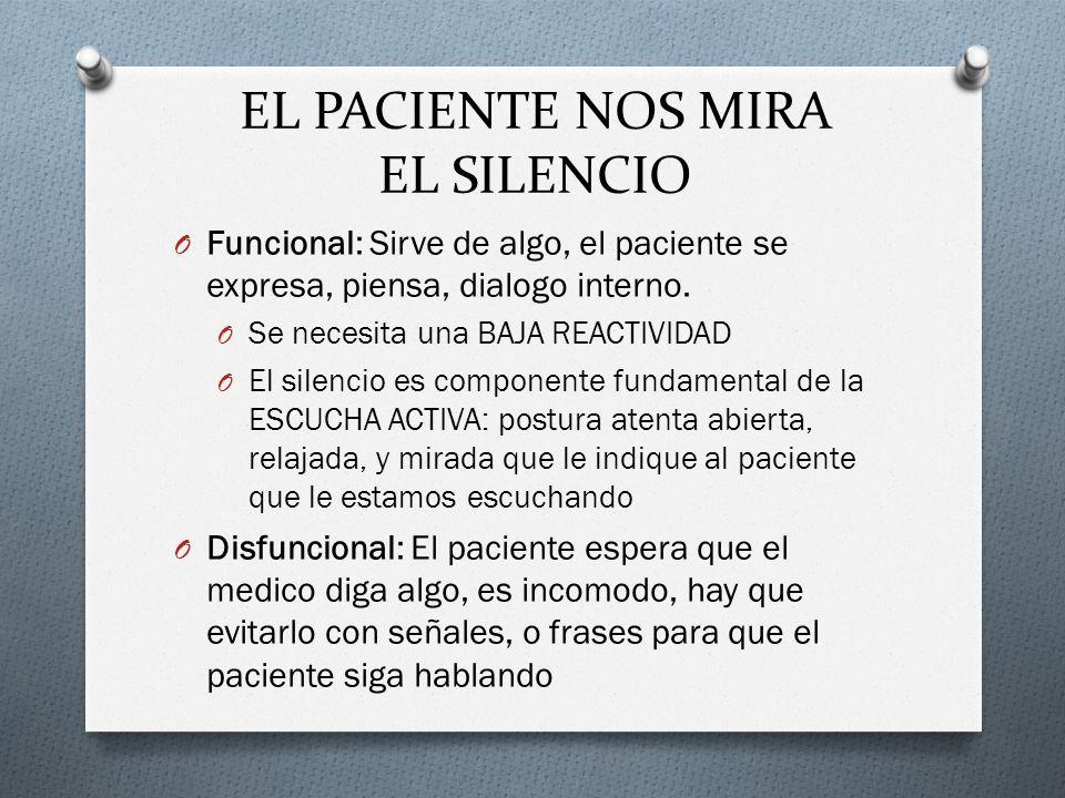 EL PACIENTE NOS MIRA EL SILENCIO