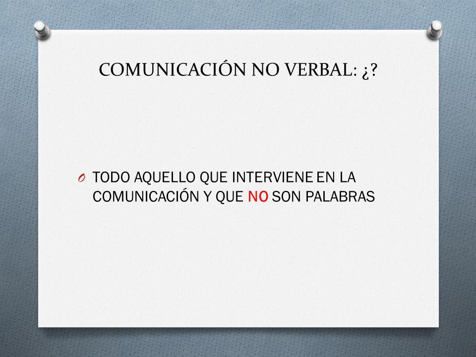 COMUNICACIÓN NO VERBAL: ¿