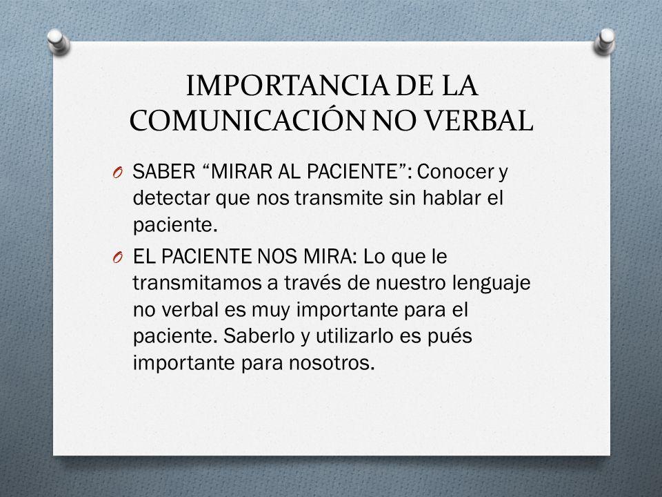 IMPORTANCIA DE LA COMUNICACIÓN NO VERBAL