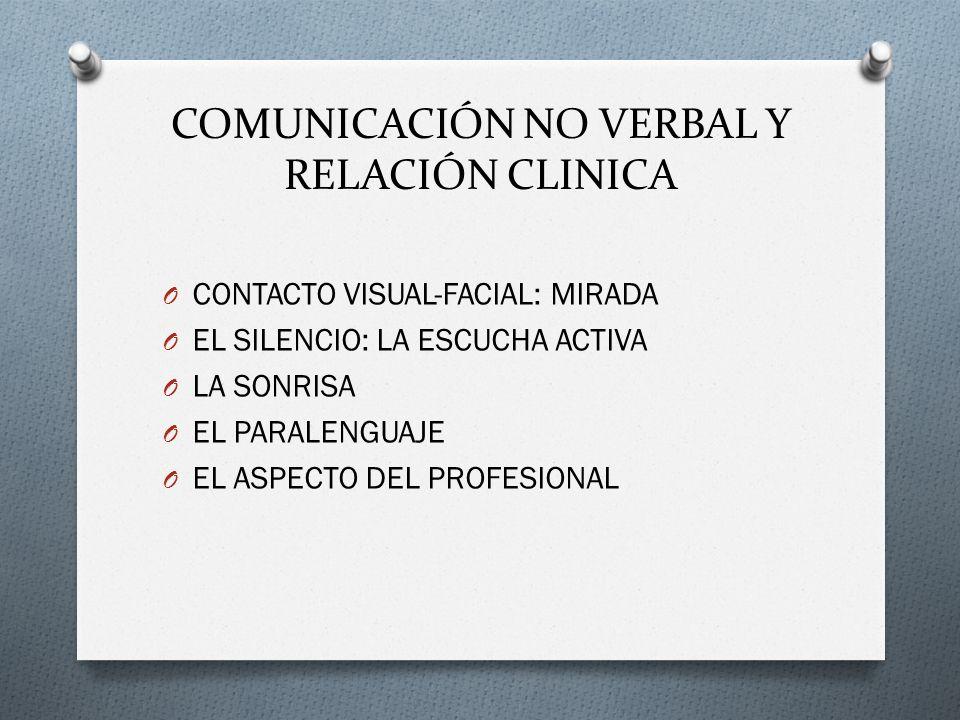 COMUNICACIÓN NO VERBAL Y RELACIÓN CLINICA