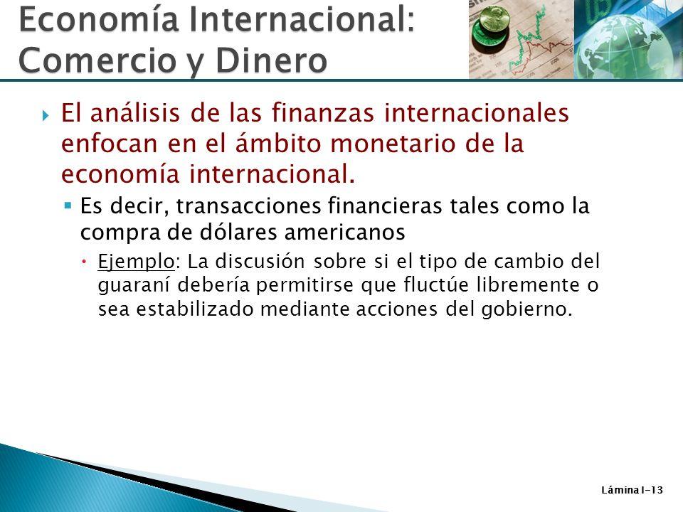 Economía Internacional: Comercio y Dinero