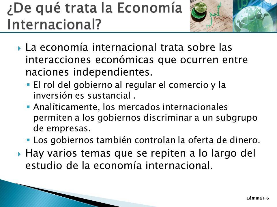 ¿De qué trata la Economía Internacional