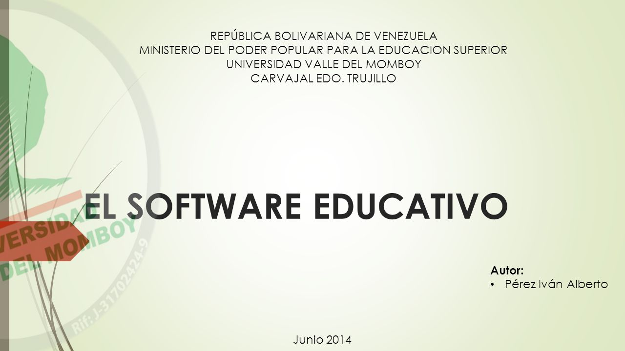 EL SOFTWARE EDUCATIVO REPÚBLICA BOLIVARIANA DE VENEZUELA