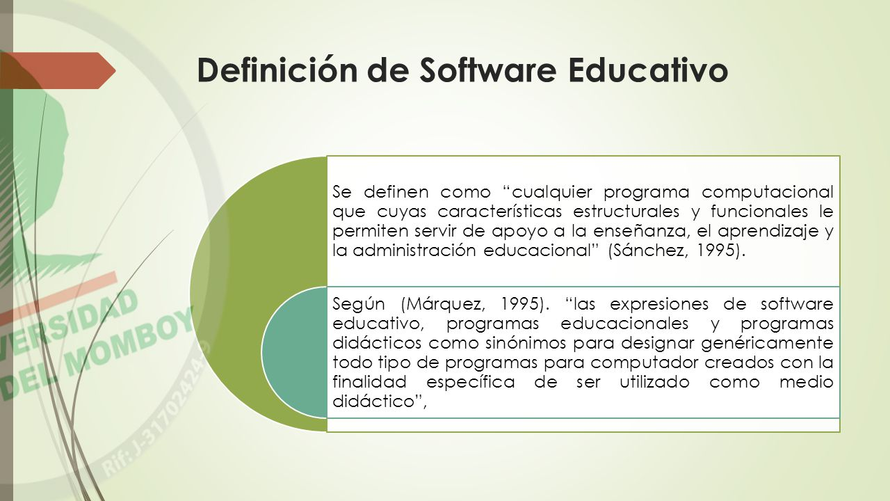 Definición de Software Educativo