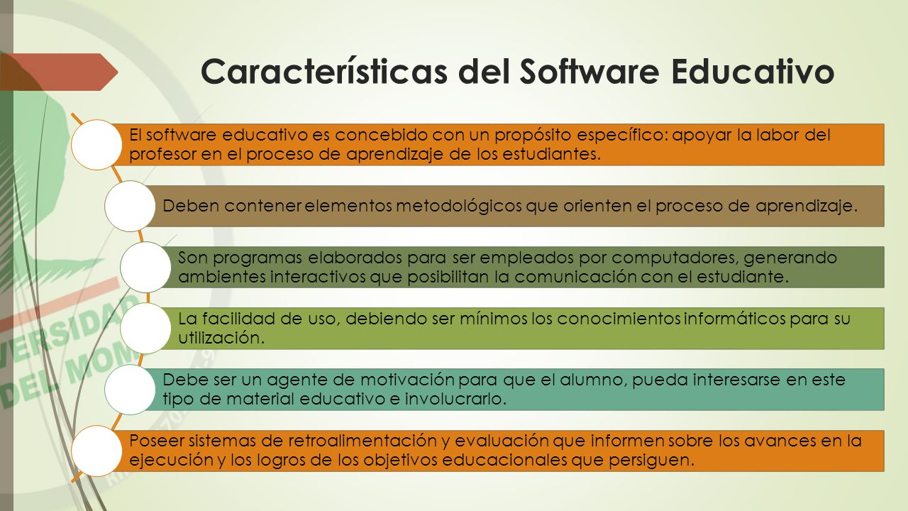 Características del Software Educativo