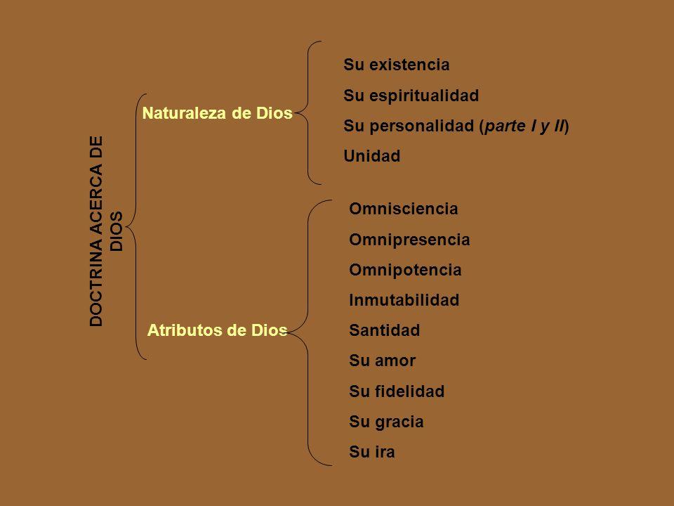 DOCTRINA ACERCA DE DIOS