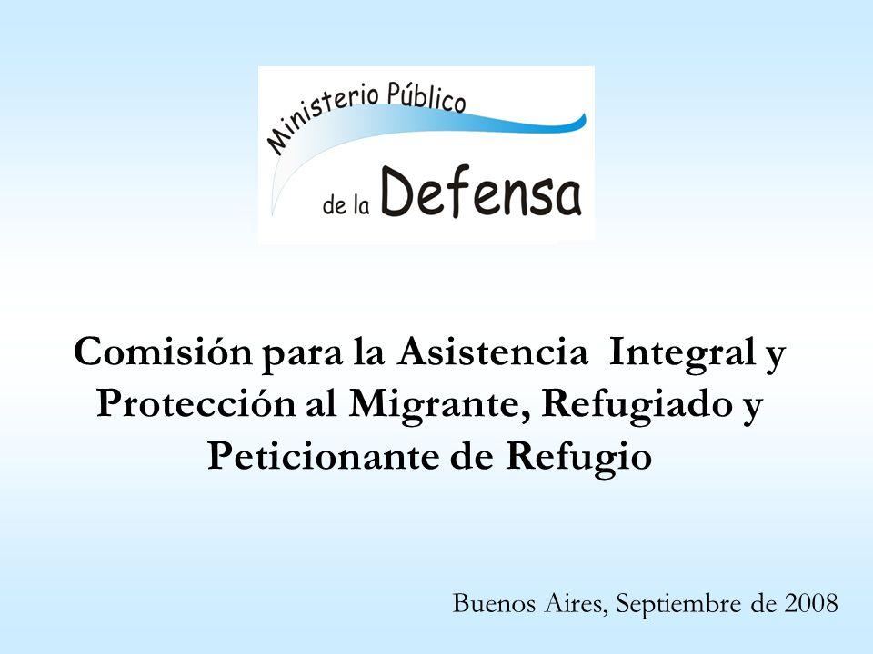 Comisión para la Asistencia Integral y Protección al Migrante, Refugiado y Peticionante de Refugio