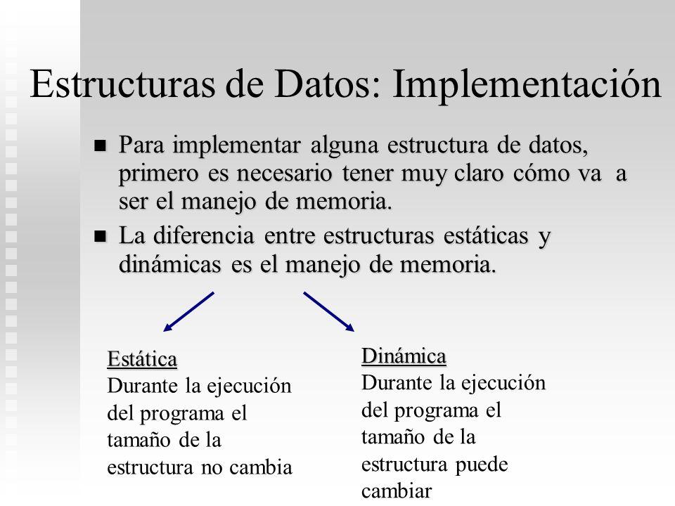 Estructuras de Datos: Implementación