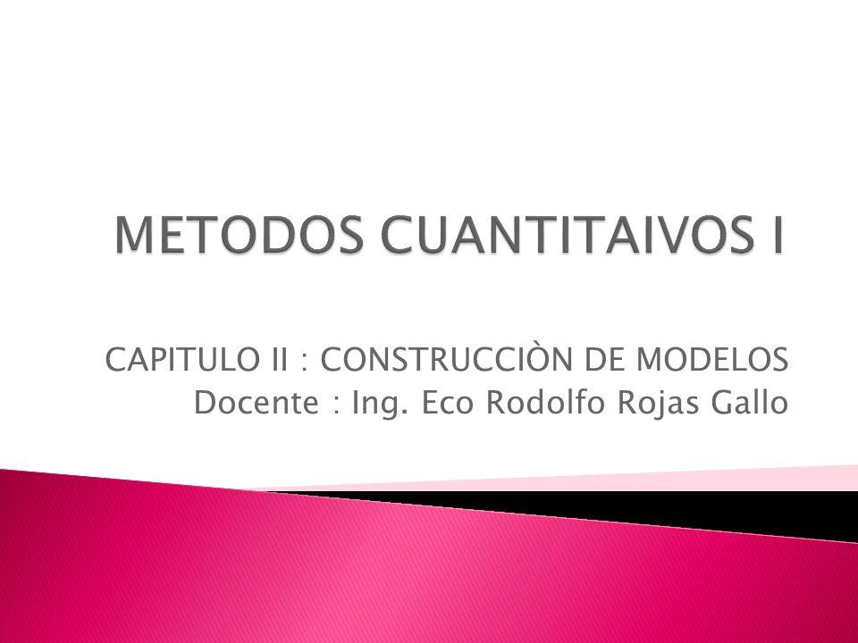 METODOS CUANTITAIVOS I