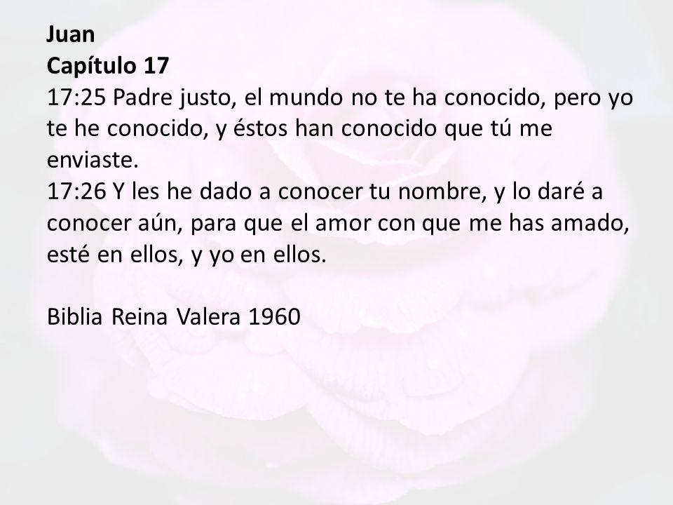 Juan Capítulo 17.