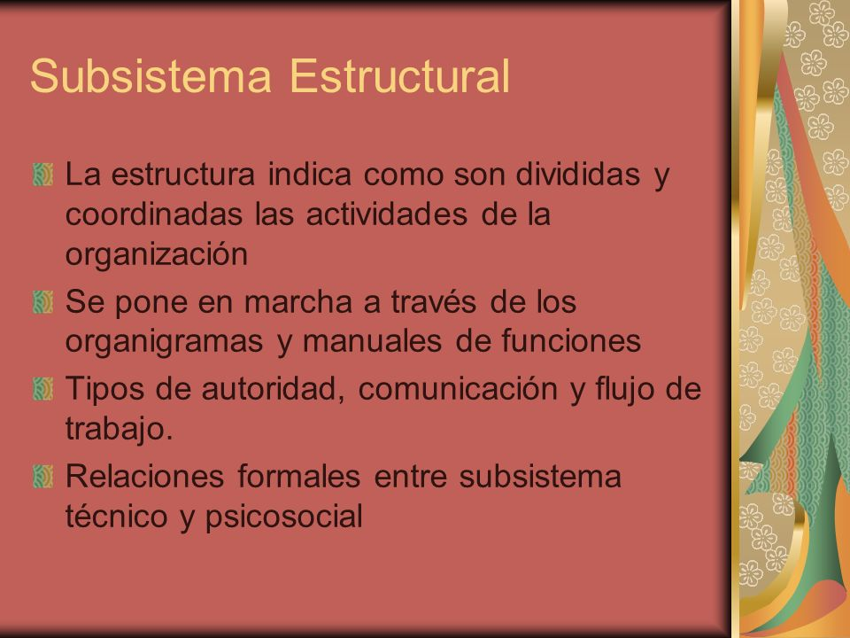 Subsistema Estructural