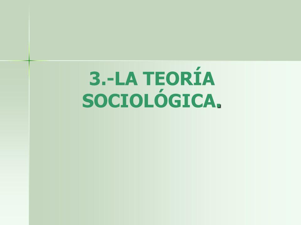 3.-LA TEORÍA SOCIOLÓGICA.