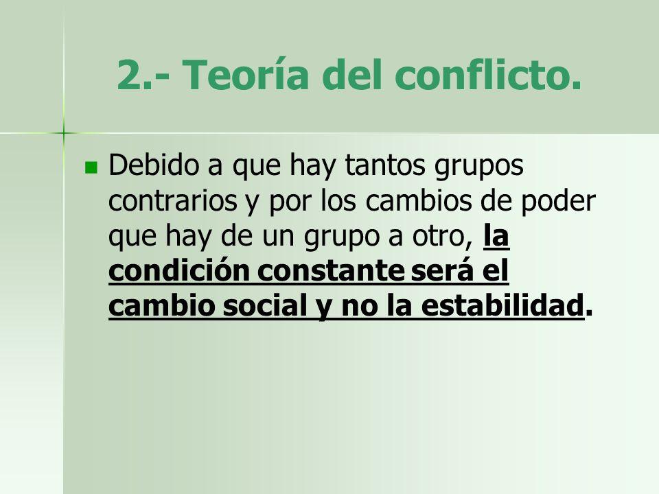2.- Teoría del conflicto.