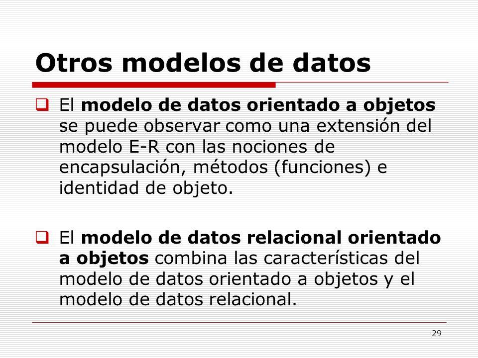 Otros modelos de datos