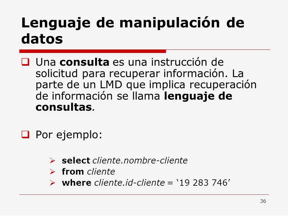 Lenguaje de manipulación de datos