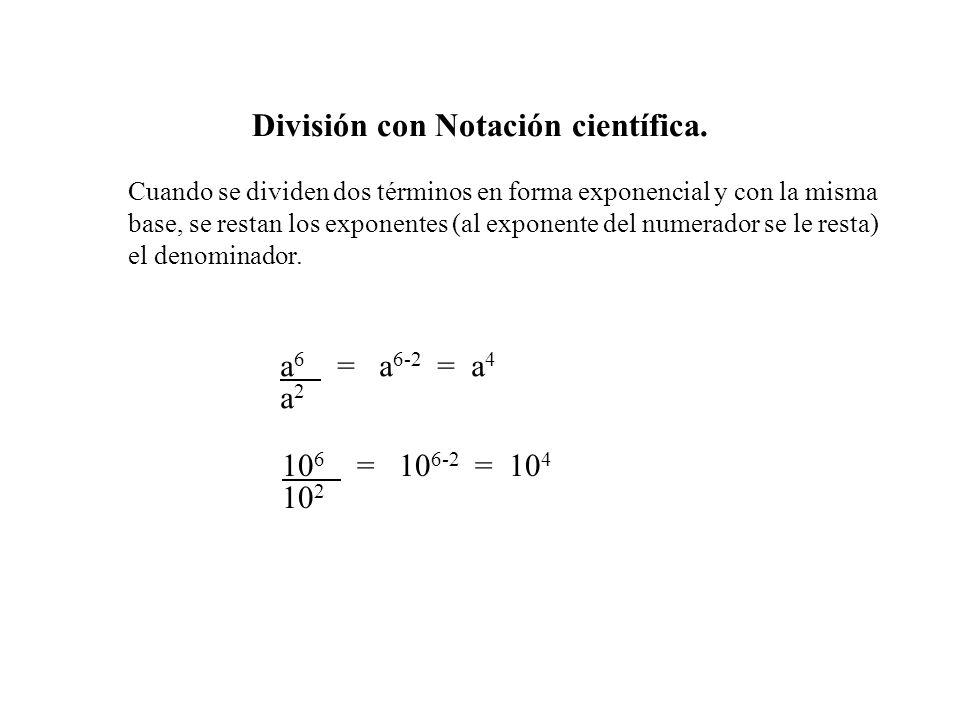 División con Notación científica.