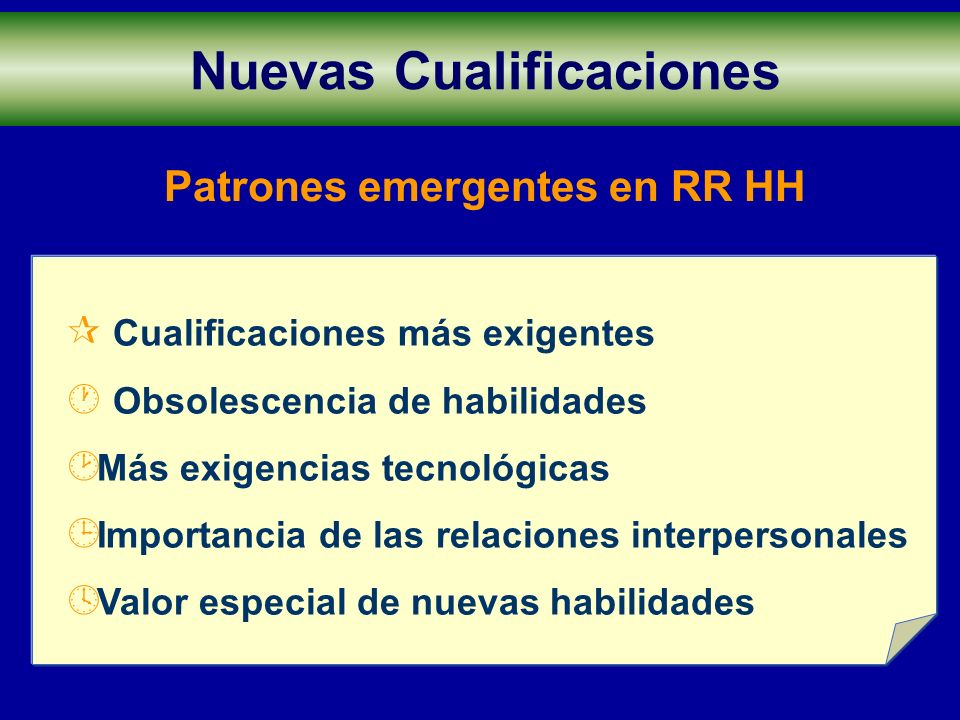 Patrones emergentes en RR HH