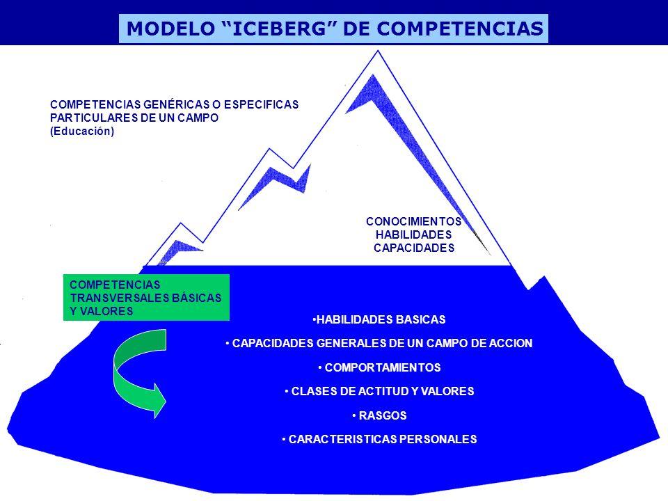 MODELO ICEBERG DE COMPETENCIAS