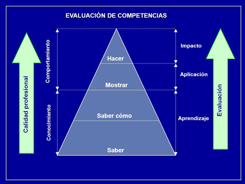 Hacer Mostrar Evaluación Calidad profesional Saber cómo Saber
