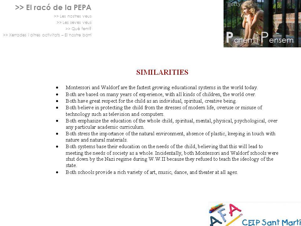 Parlem i Pensem >> El racó de la PEPA >> Les nostres veus