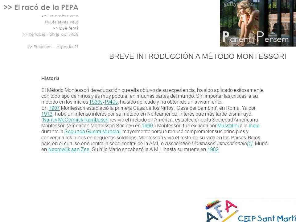 Parlem i Pensem >> El racó de la PEPA