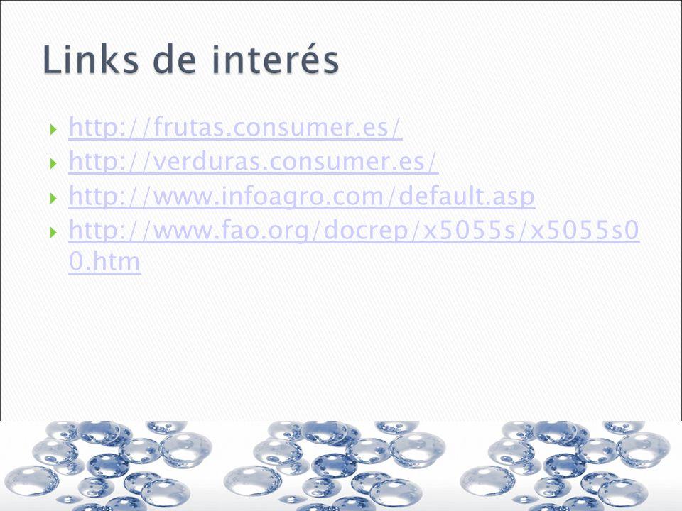 http://frutas.consumer.es/ http://verduras.consumer.es/ http://www.infoagro.com/default.asp.