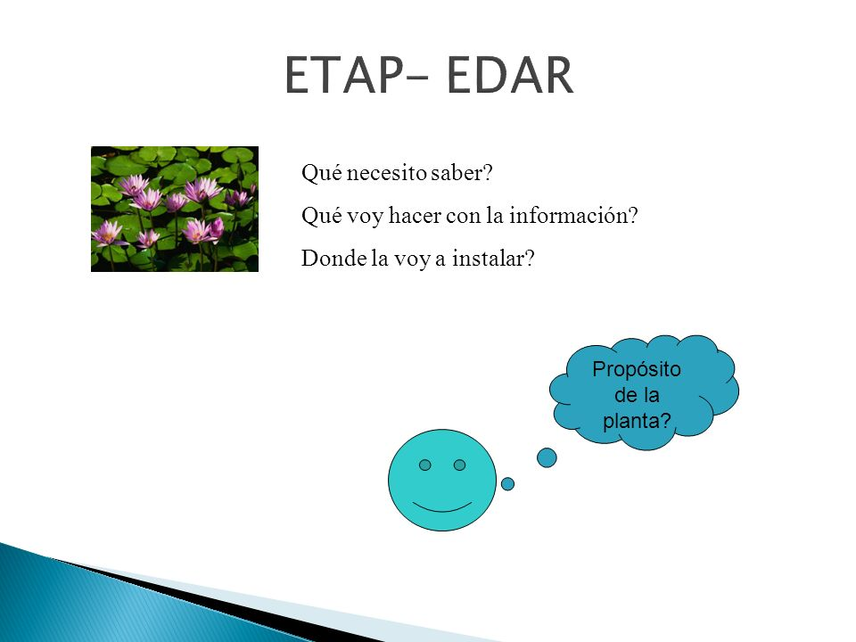 ETAP- EDAR Qué necesito saber Qué voy hacer con la información