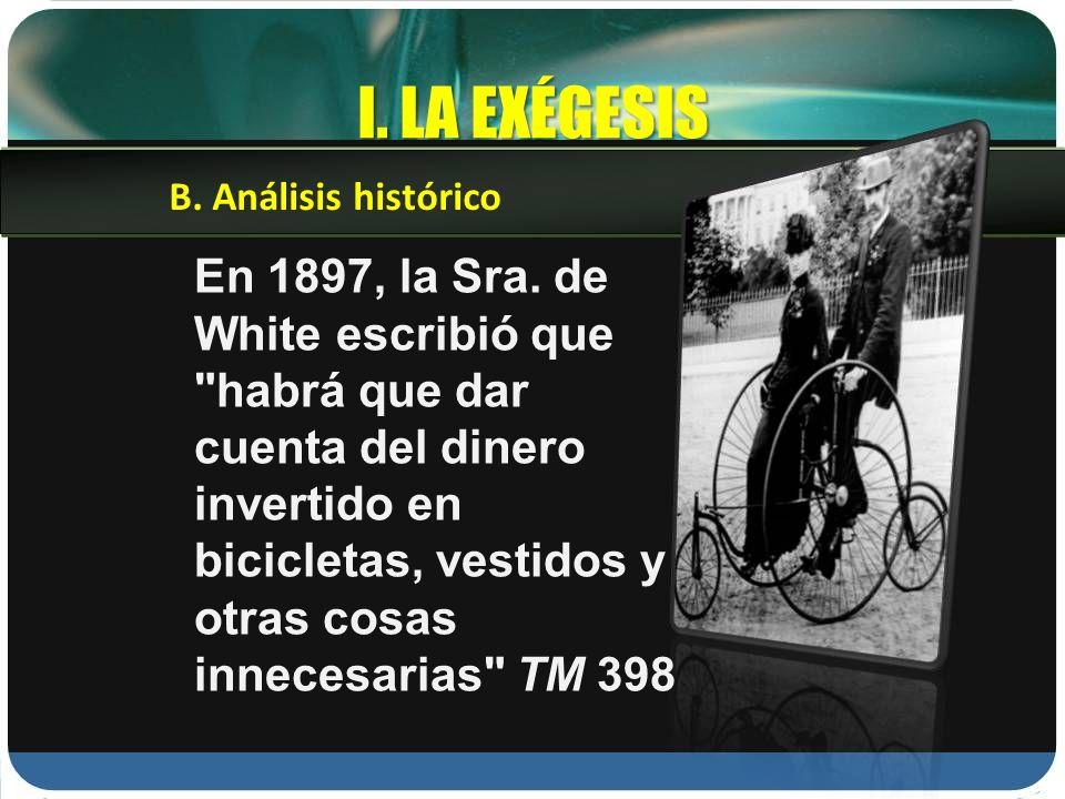 I. LA EXÉGESIS B. Análisis histórico.