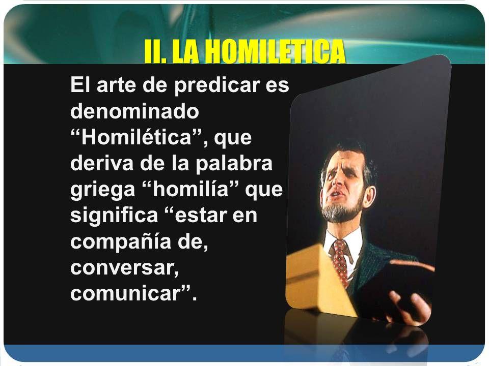 II. LA HOMILETICA