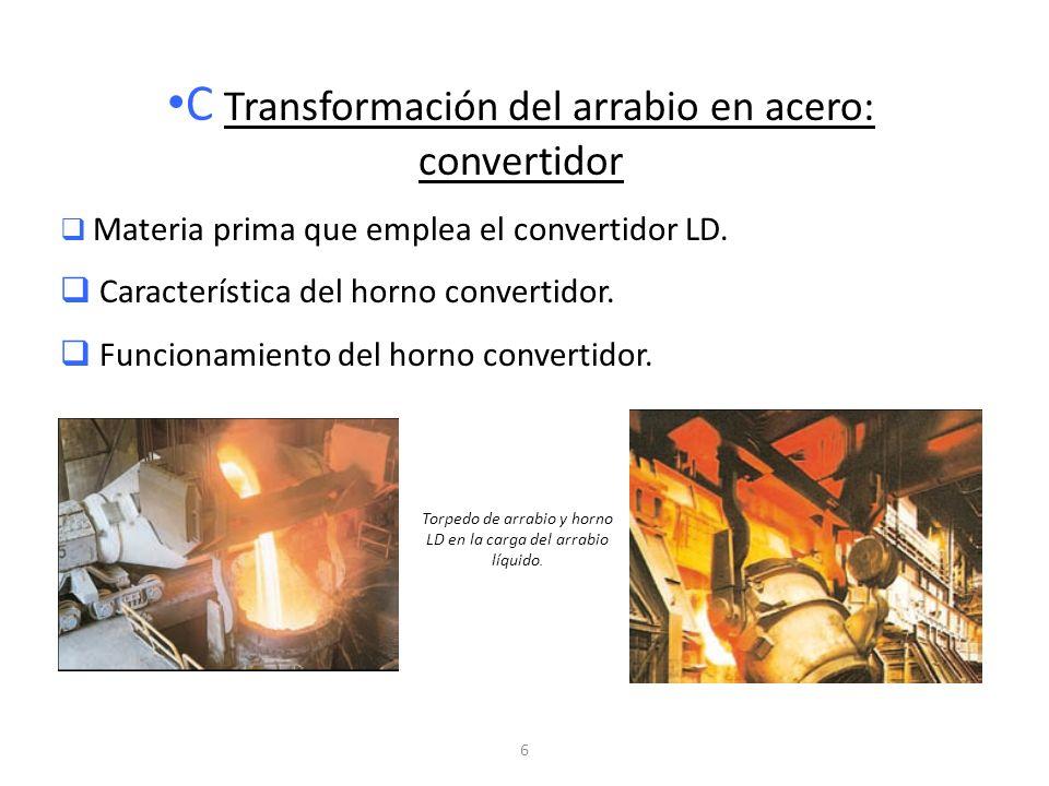 C Transformación del arrabio en acero: convertidor