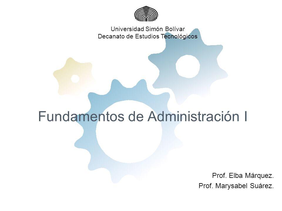 Fundamentos de Administración I