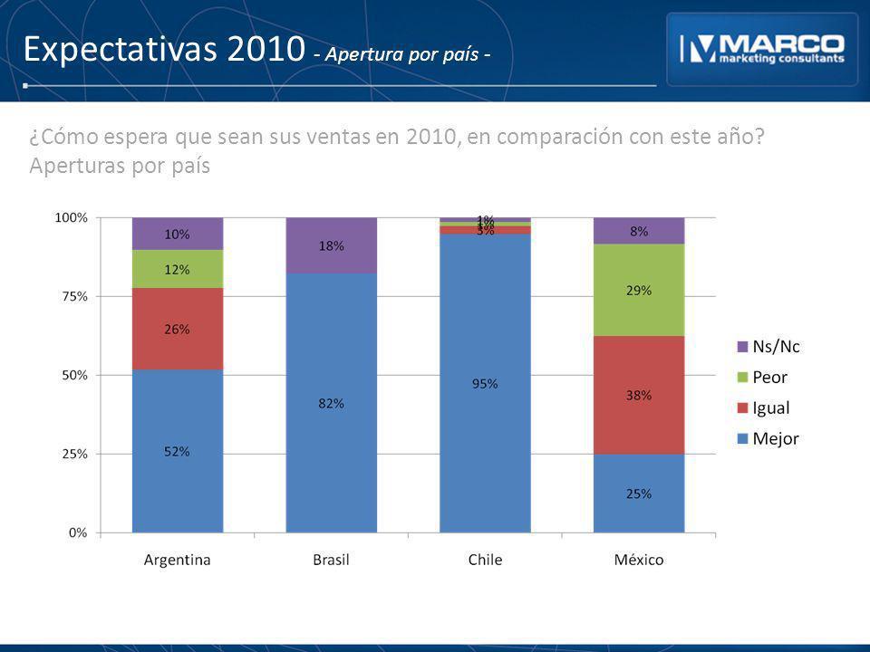Expectativas 2010 - Apertura por país -