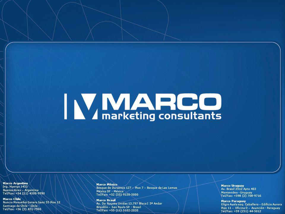 Marco Argentina Ing. Huergo 1433 Buenos Aires – Argentina Tel/Fax: +54 (11) 4300-9990