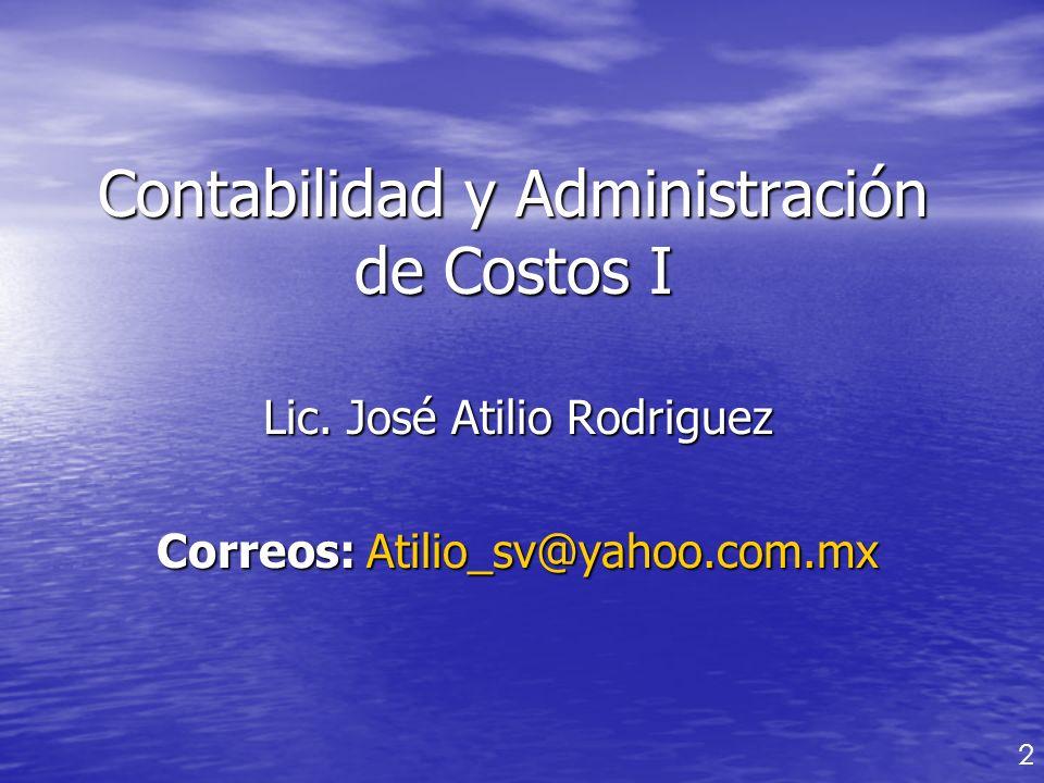 Contabilidad y Administración de Costos I