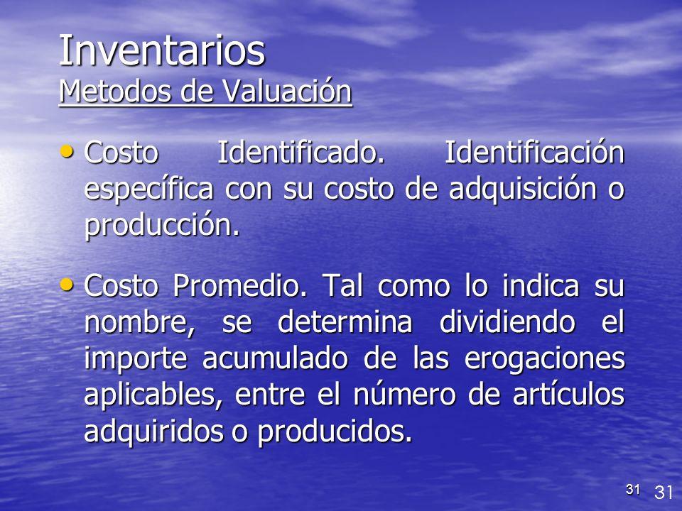 Inventarios Metodos de Valuación