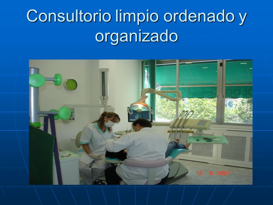 Consultorio limpio ordenado y organizado
